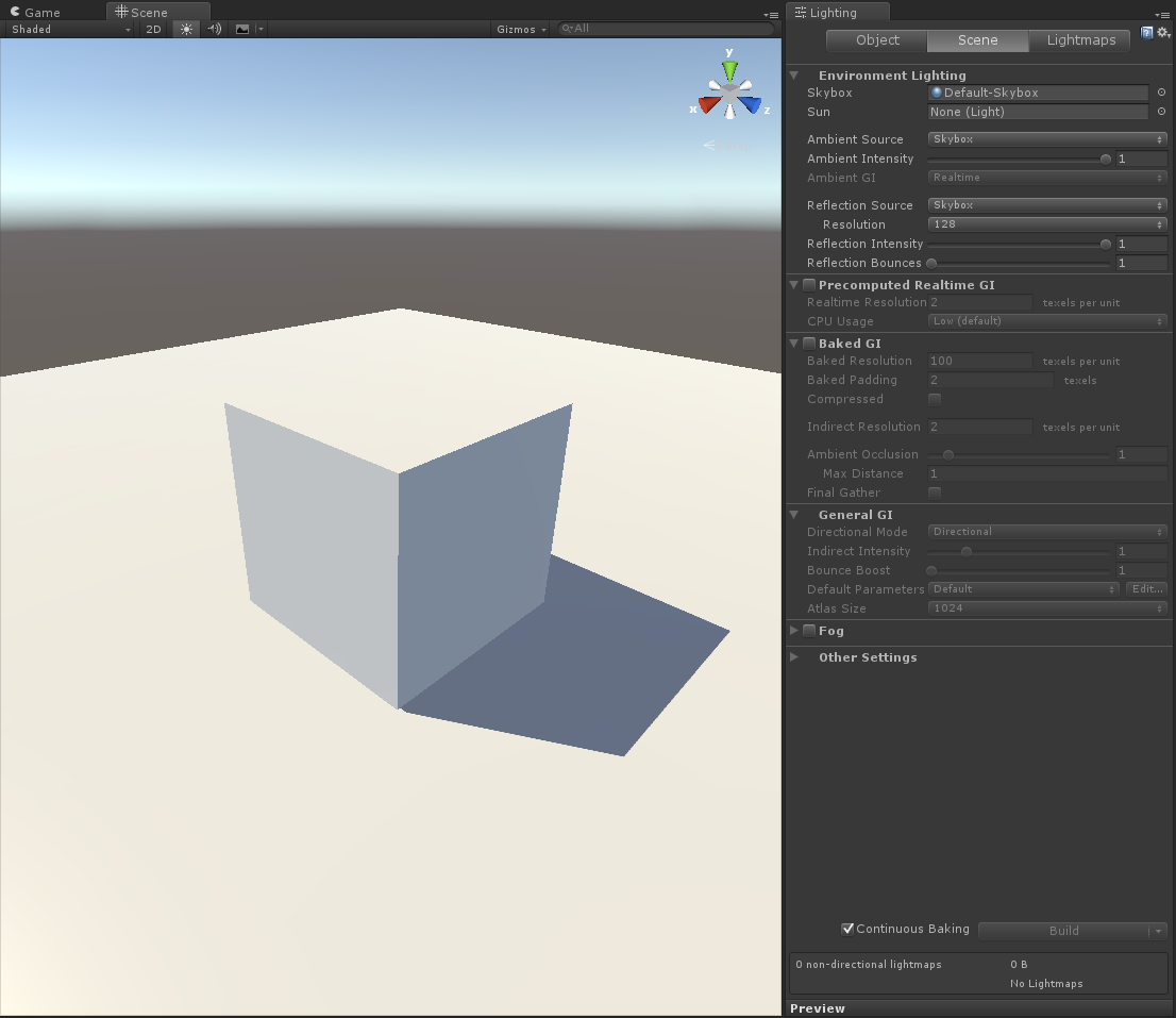 Lightmapping in Unity 5